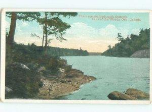 W-border LAKE SCENE Lake Of The Woods - Kenora Ontario ON AE4752