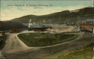 Palmerton PA Jersey Central RR Train Station Depot c1915 Postcard