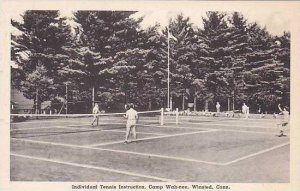 Connecticut Winsted Camp Wah-nee Individual Tennis Instruction Albertype
