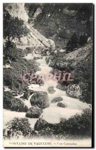 Old Postcard Fontaine De Vaucluse Cascades