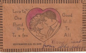 LEATHER ; Romance Couple , 1907
