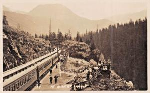 ALBERTA CANYON BC CA~CANADIAN PACIFIC RAILROAD-OBSERVATION-REAL PHOTO POSTCARD