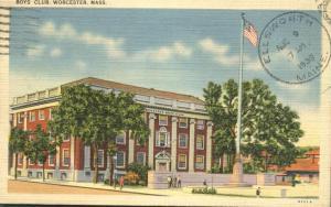 Boys Club - Worcester MA, Massachusetts - pm 1939 - Linen