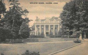 Weylister School, Milford, Connecticut, Early Postcard, Used in 1936