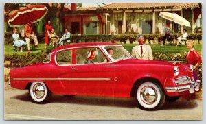 Studebaker~Ladies in Red 1954 Champion Regal 2 Door Sedan~Whitewalls~Folk Watch