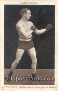 Boxing Series #75 Johnny Coulon Unused minor corner wear