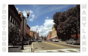 Frostburg Maryland~Main Street~Pritchard~Stores~Shops~1970s Cars~Postcard