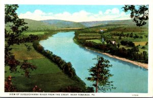 Pennsylvania View Of Susquehanna River From The Crest Near Towanda Curteich