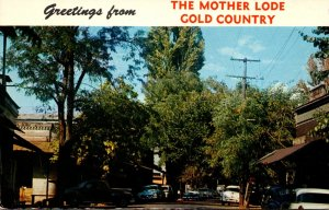 California Columbia State Park Greetings From The Mother Lode Gold Country 1961