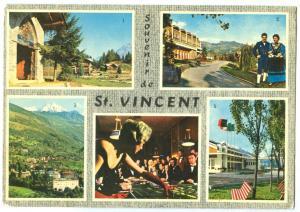 Italy, Souvenir de St. Vincent, used Postcard