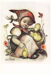 Hummel : Girl with Baby chicks , 50-60s