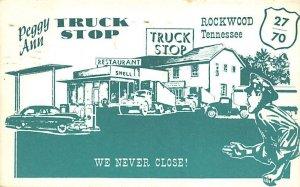Peggy Ann Truck Stop Rockwood, TN USA Gas Station 1961
