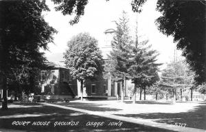 Osage Iowa Court House Grounds Real Photo Antique Postcard K58929