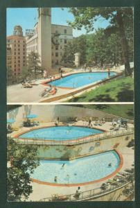 The Arlington Hotel HOT SPRINGS NATIONAL PARK ARKANSAS Swimming Pools Postcard
