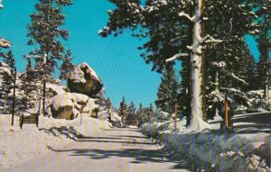 California Balanced Rock At Entrance To June Lake 1971