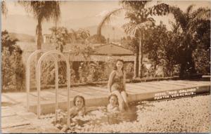 Hotel Ruiz Galindo Fortin Veracruz Mexico Women In Pool RPPC Postcard E30