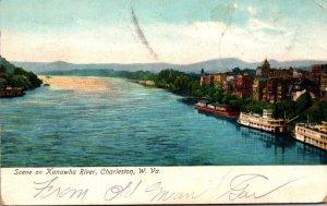 West Virginia Charleston Scene On Kanawha River 1907