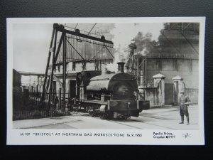Southampton BRISTOL LOCO at NORTHAM GAS WORKS c1953 RP Postcard by Pamlin Repro
