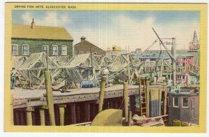 Gloucester, Mass, Drying Fish Nets