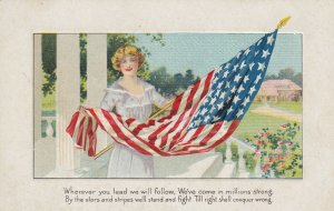 USA Flag & Woman ; Wherever you lead we will follow , 00-10s