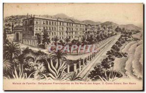 Postcard Old House Of Family Of Franciscan Nuns co Mary Of the Angels San Remo