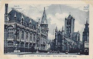 Belgium Gent Gand Pont Saint Michel Eglise Saint Nicolas
