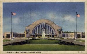 Cincinnati Union Terminal, Cincinnati, Ohio, OH, USA Railroad Train Depot Pos...