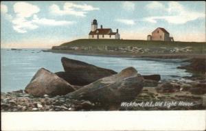 Wickford RI The Old Lighthouse c1905 UDB Postcard