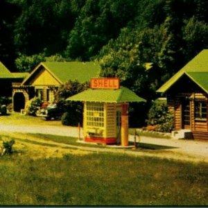 Vtg Chrome Carte Postale Leggett Ca California Browerss Lodge Coque Visible Gas