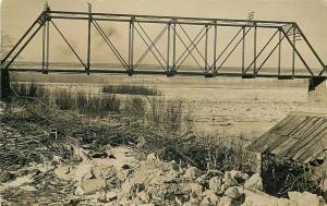 C-1910 Oregon Illinois Truss girder Bridge Postcard Curtis undivided 3421