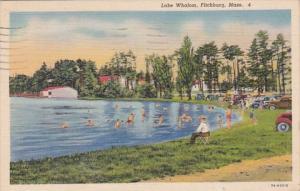 Massachusetts Fitchburg Lake Whalom Bathing Beach Scene 1939 Curteich
