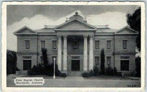 Enterprise, Alabama Postcard First Baptist Church Street View Dexter 1943