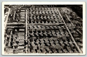 Camp Wolters Texas~Regimental Areas 4 & 5~Birdseye Barracks~WWII 1940s RPPC