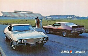 AMC JAVELIN-BACKED BY BUYER PROTECTION PLAN-DEALER AUTOMOBILE POSTCARD