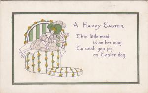 A Happy Easter Poem, Woman wearing bonnet coming out of a hat box, 10-20s