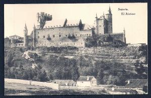 El Alcazar Segovia Spain unused c1920's