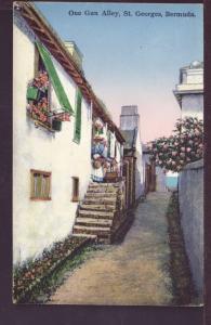 One Gun Alley St George's Bermuda Postcard 2739