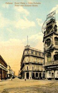 Cuba - Havana. Hotel Plaza and Zulueta Street