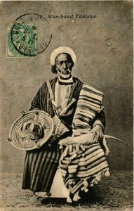 CPA AK Marchand Tunisien TUNISIE (748086)
