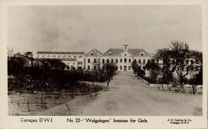 curacao, D.W.I., Welgelegen Institute for Girls (1920s) Capriles  RPPC 22