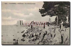 Cannes Old Postcard Ile St Honorat Chateau