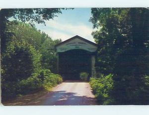 Pre-1980 COVERED BRIDGE Turkey Run State Park - Marshall Indiana IN H8580