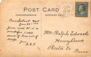 CUMBERLAND, MARYLAND VIEW OF CUMBERLAND-1910 RPPC REAL PHOTO POSTCARD