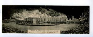 192732 BELGIUM BRUXELLES Fair 1910 exhibition panoramic PC