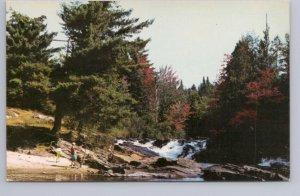 River Scene Near Maple Island General Store, Parry Sound Ontario, Postcard #2