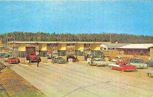 Opening of the Straits of Mackinac Bridge WI Toll Gates Old Cars Postcard