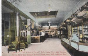 SALT LAKE CITY, Utah, 1900-1910's; Office of The Willson Hotel