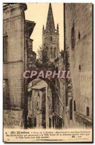 Saint Emilion - Gate Cadene Old Postcard
