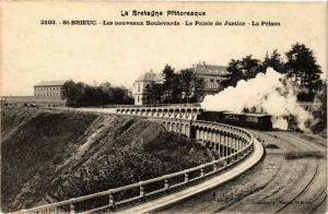 CPA St-BRIEUC-Les nouveaux Boulevard-Le Palais de Justice-La Prison (231468)