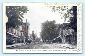 Postcard WV Martinsburg c1906 South Queen Street View Dirt Street to North L02